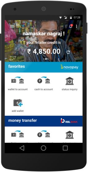 Novopay · Retail & Banking Solutions · Remittance, AEPS, Bill Payments